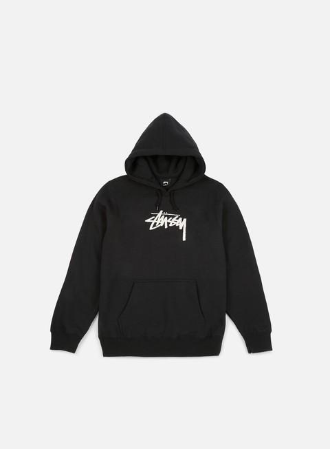 felpe stussy wmns old stock hoodie black