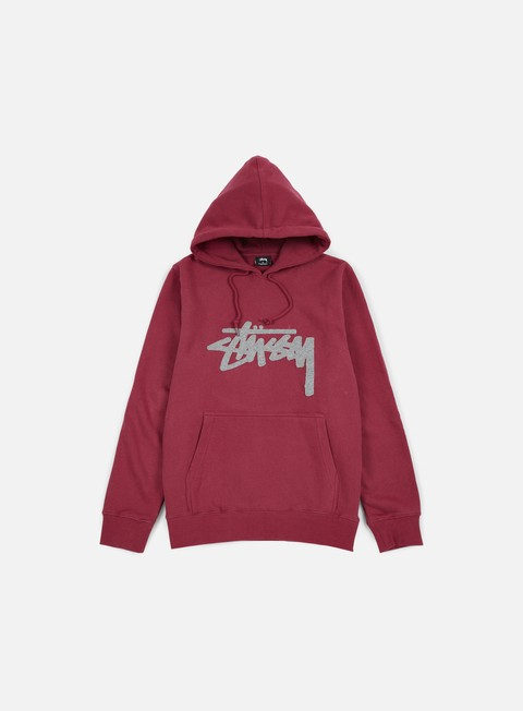 felpe stussy wool stock applique hoodie grape
