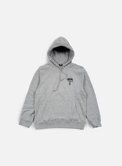 Stussy - World Tour Hoodie, Grey Heather