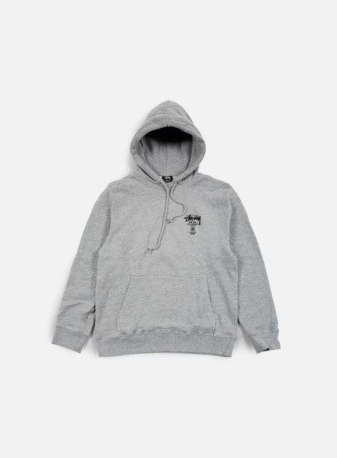 felpe stussy world tour hoodie grey heather