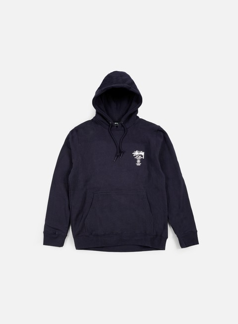 felpe stussy world tour hoodie navy