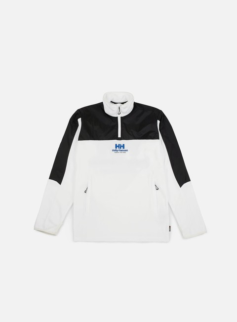 felpe sweet sktbs x helly hansen sweet hh half zipped fleece jacket white black