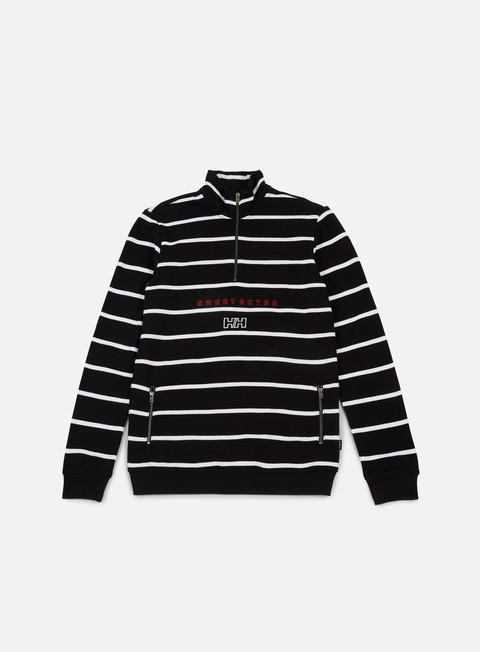 felpe sweet sktbs x helly hansen sweet hh zip turtle box logo sweatshirt black white