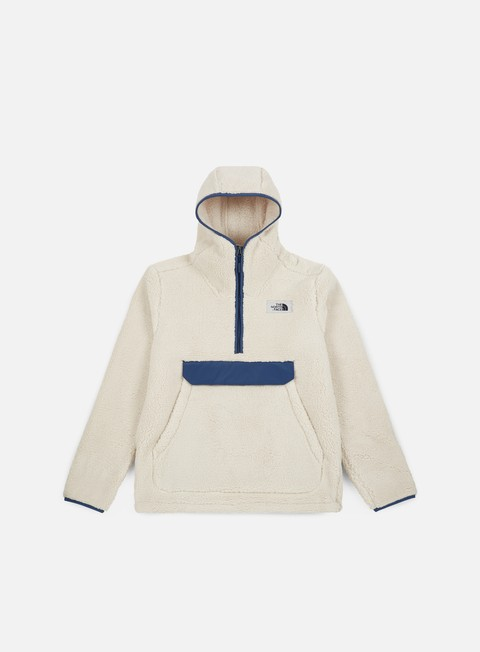 felpe the north face campshire hoodie vintage white shady blue