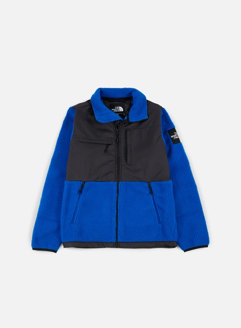 felpe the north face denali pile fleece tnf black bright cobalt blue