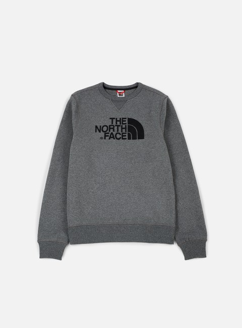 felpe the north face drew peak crewneck medium grey heather