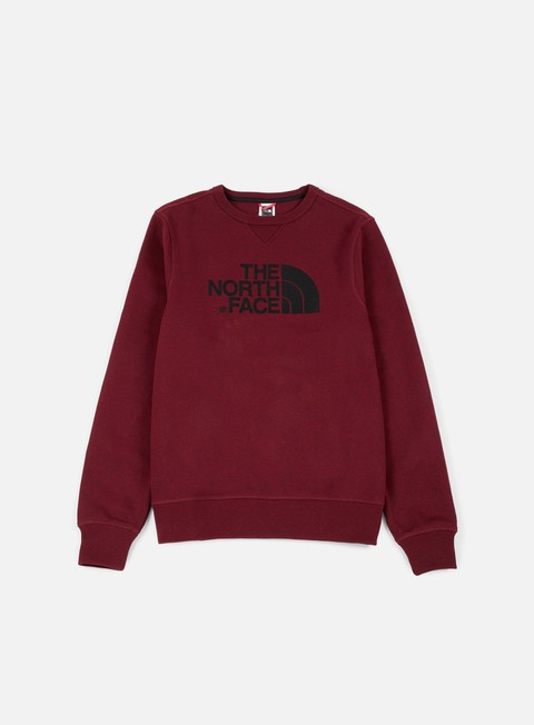 felpe the north face drew peak crewneck red dark heather