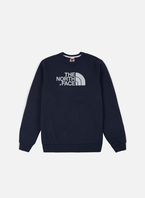 felpe the north face drew peak crewneck urban navy
