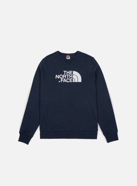 felpe the north face drew peak crewneck urban navy white