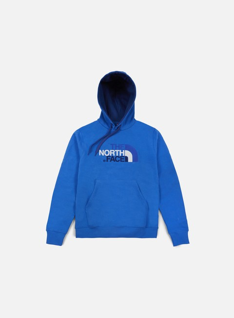 felpe the north face drew peak hoodie bomber blue