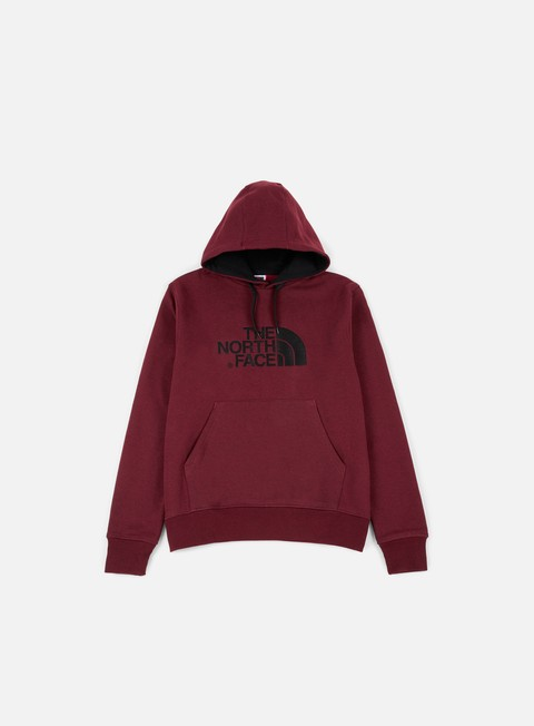 felpe the north face drew peak hoodie red dark heather