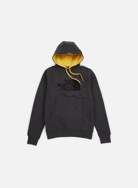 felpe the north face drew peak hoodie tnf dark grey heather