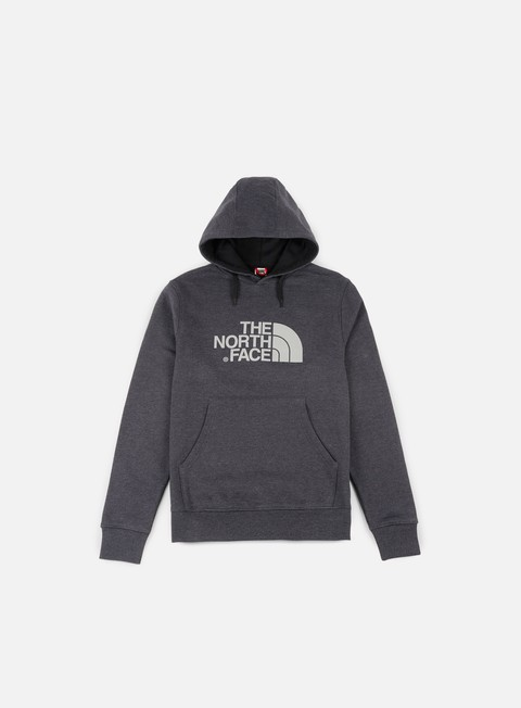 felpe the north face drew peak hoodie tnf dark grey heather silver reflective