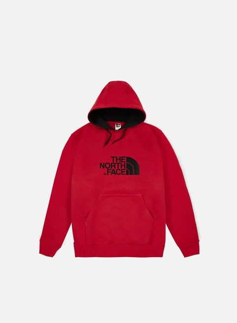 felpe the north face drew peak hoodie tnf red tnf black