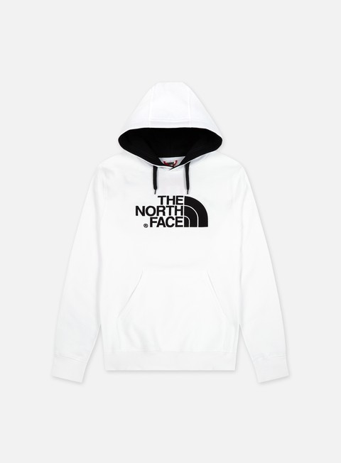 felpe the north face drew peak hoodie tnf white tnf black