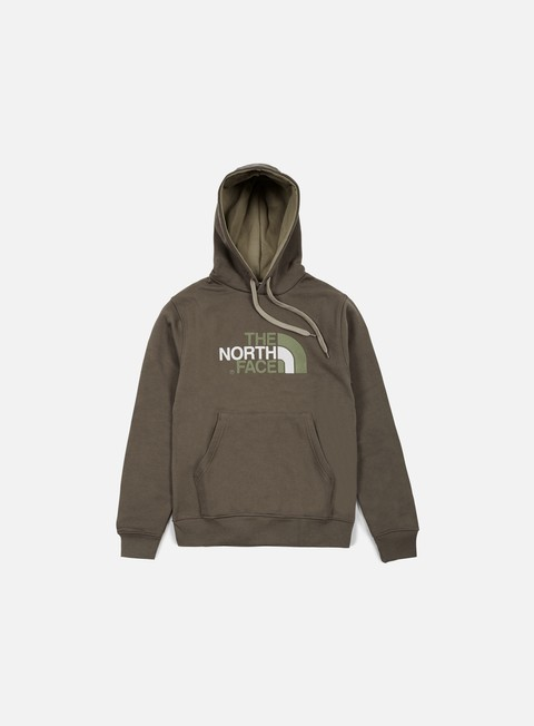 felpe the north face drew peak hoodie weimaraner brown