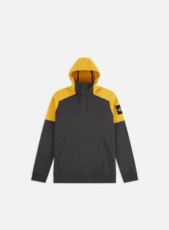The North Face - Fine Box Hoodie, Asphalt Grey/Leopard Yellow