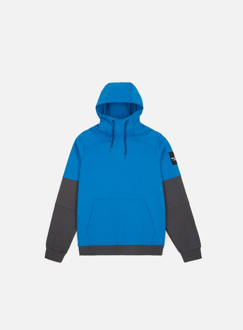 felpe the north face fine box hoodie bomber blue