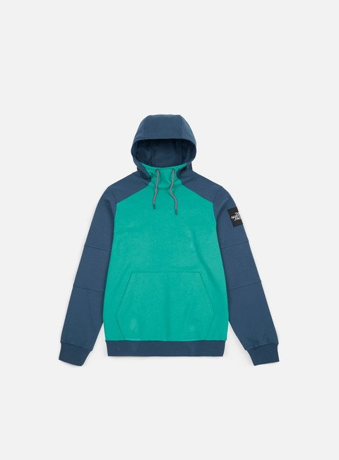 felpe the north face fine box hoodie porcelain green blue wing teal