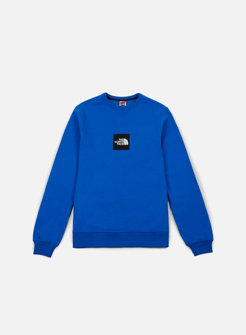 felpe the north face fine crewneck bright cobalt blue