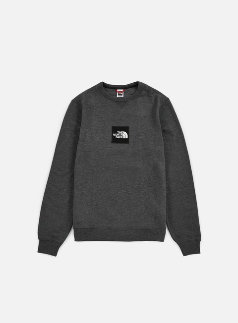 felpe the north face fine crewneck dark grey heather