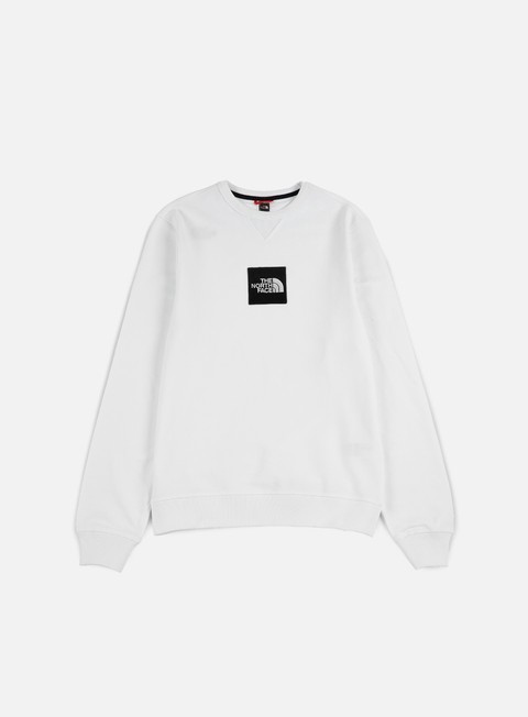 felpe the north face fine crewneck lht tnf white