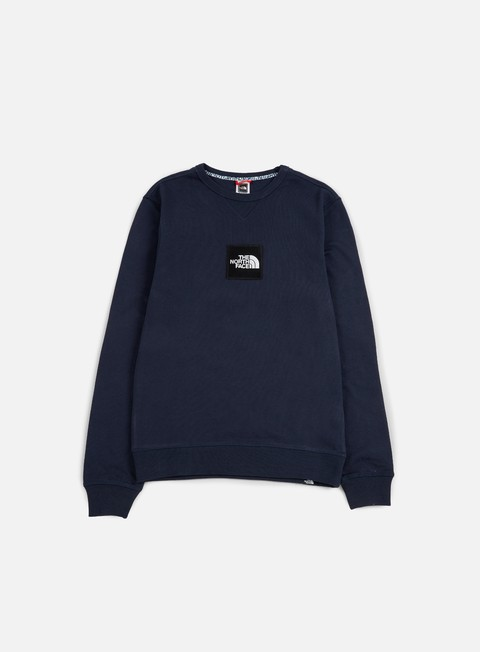 felpe the north face fine crewneck lht urban navy