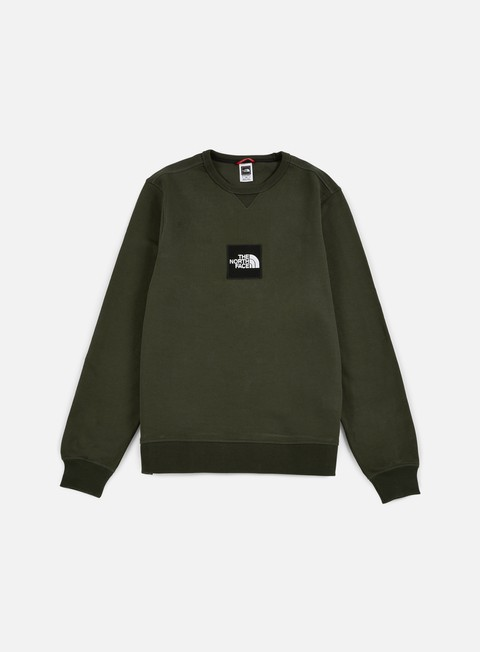 felpe the north face fine crewneck rosin green