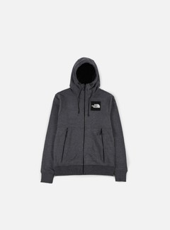 The North Face - Fine FZ Hoodie, Dark Grey Heather