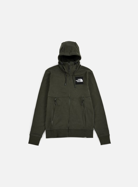 felpe the north face fine fz hoodie rosin green