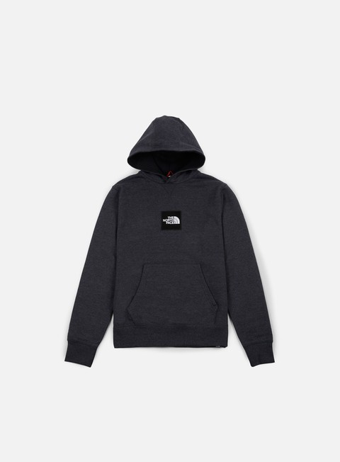 felpe the north face fine hoodie dark grey heather
