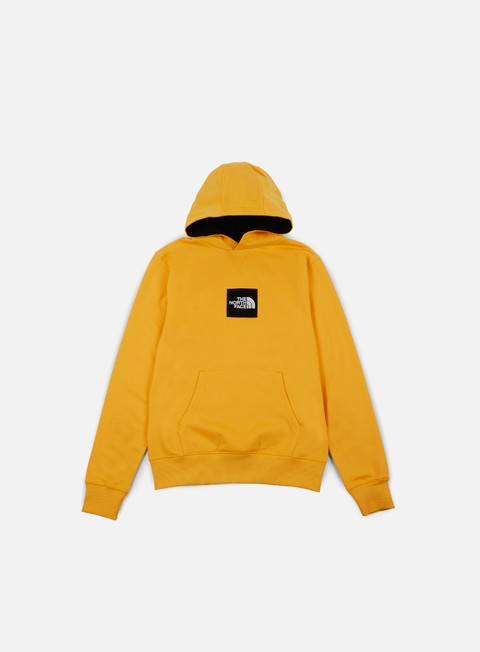 felpe the north face fine hoodie tnf yellow