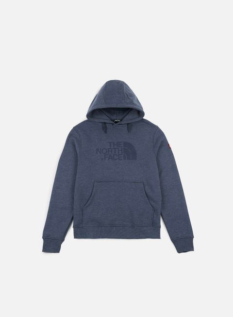 felpe the north face international logo hoodie cosmic blue heather