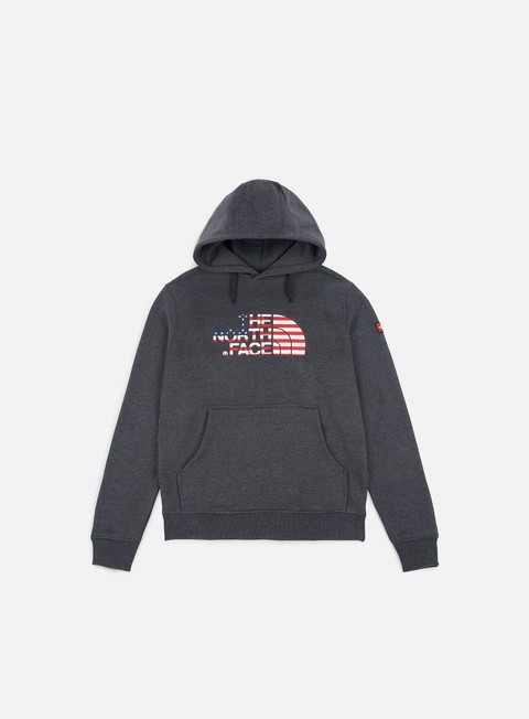 felpe the north face international logo hoodie tnf dark grey heather