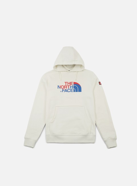 felpe the north face international logo hoodie vaporous grey
