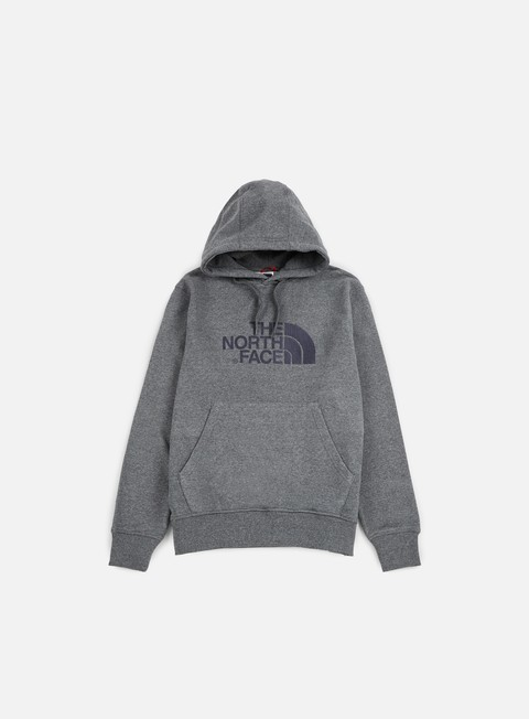 felpe the north face light drew peak hoodie medium grey heather