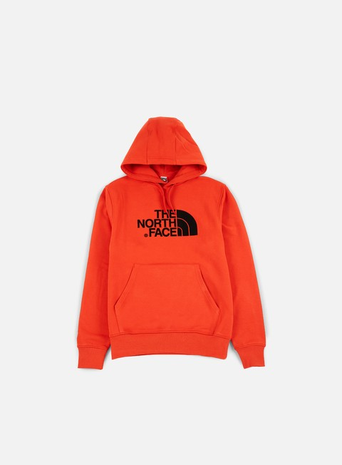 felpe the north face light drew peak hoodie tibetan orange
