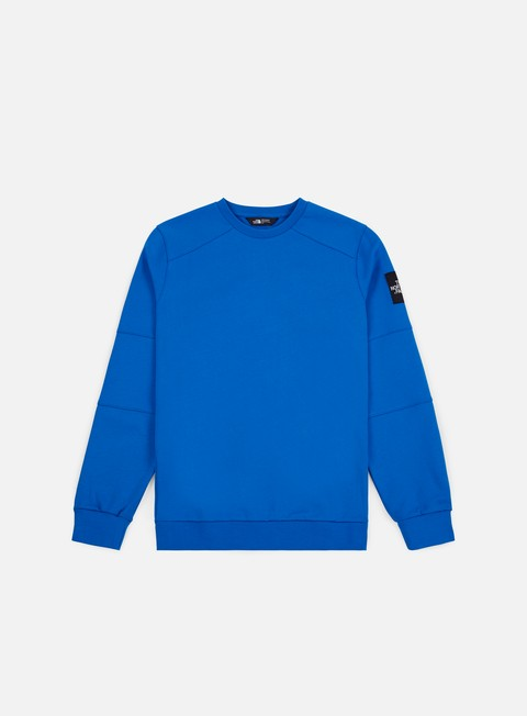 felpe the north face lt fine 2 crewneck bomber blue