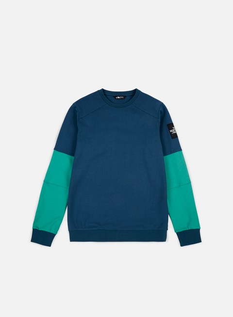 felpe the north face lt fine crewneck blue wing teal