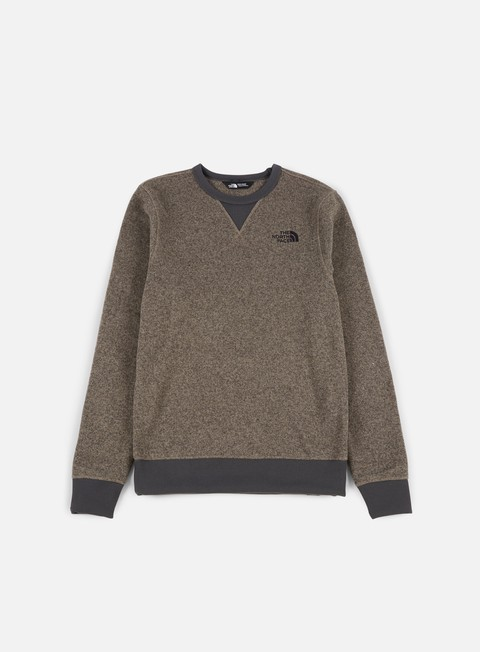 felpe the north face mc street pile fleece falcon brown dark heather