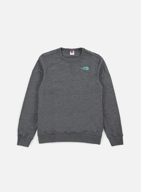 felpe the north face mountain crewneck tnf melange grey heather