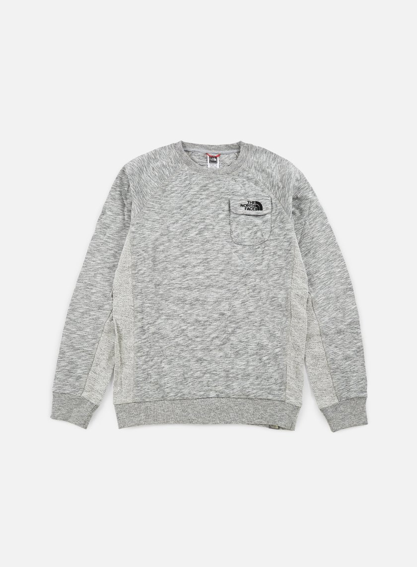 The North Face - Pocket Crewneck, TNF Medium Grey Heather