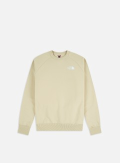 The North Face - Raglan Red Box Crewneck, Bleached Sand