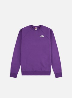 The North Face - Raglan Red Box Crewneck, Hero Purple