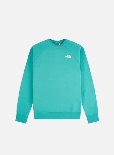 The North Face Raglan Red Box Crewneck