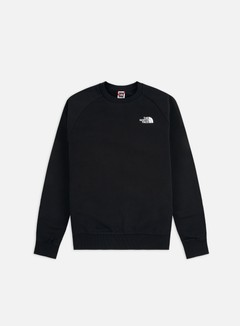 The North Face - Raglan Red Box Crewneck, TNF Black/TNF Red
