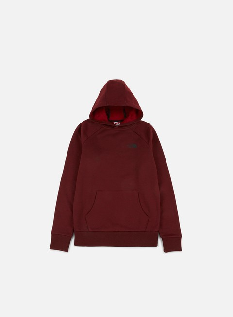 felpe the north face raglan red box hoodie dark red heather