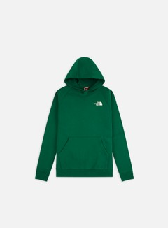 The North Face - Raglan Red Box Hoodie, Evergreen
