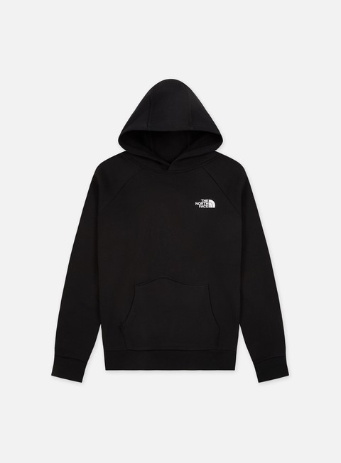 felpe the north face raglan red box hoodie tnf black