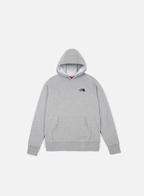 felpe the north face raglan red box hoodie tnf light grey heather